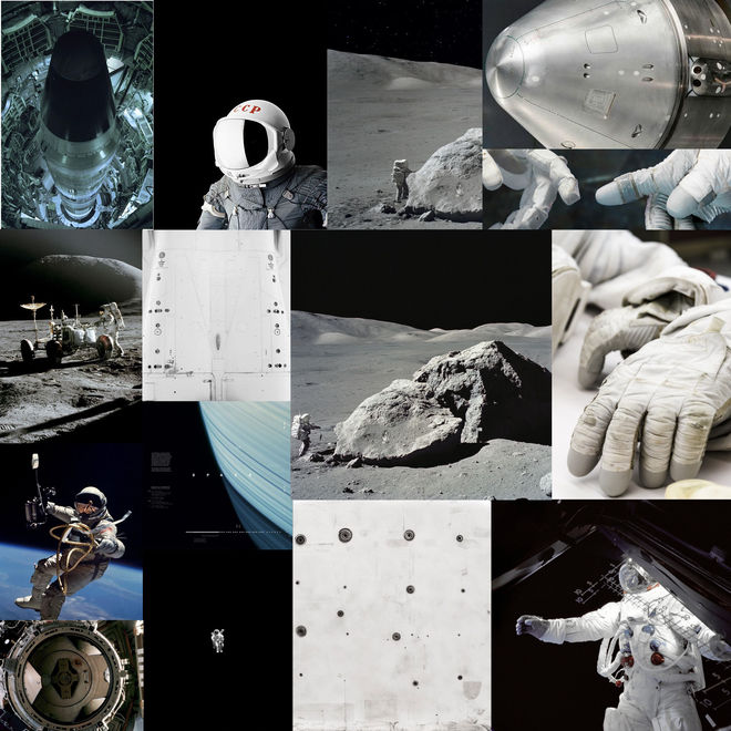 1. Apollo Tech: 60's to Present Day – Single strong light source common to space photography, limited colour palette