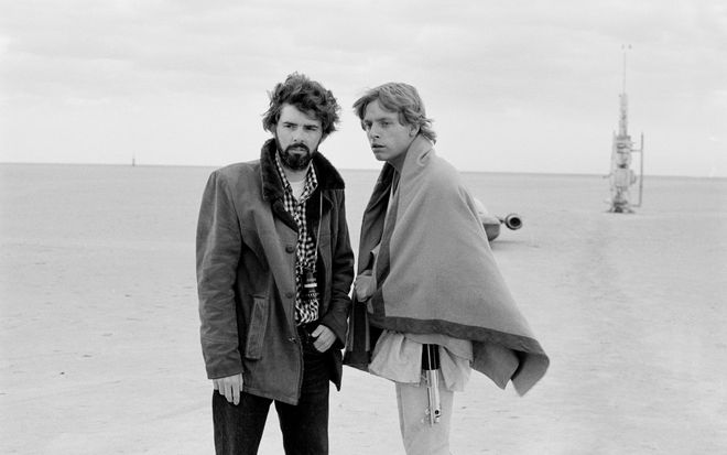 IMAGE: George Lucas and Mark Hamill in Tunisia 1976