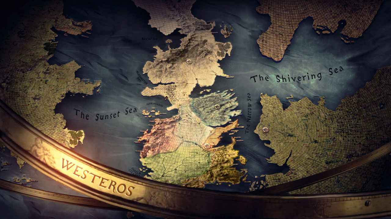 World map concept art Game of Thrones