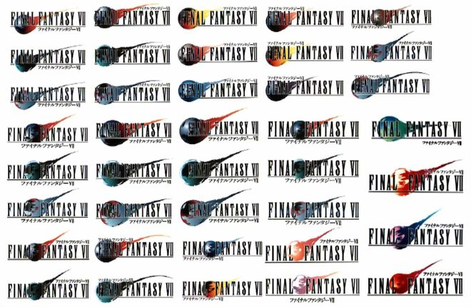 IMAGE: Final Fantasy VII Unused Logo Concepts