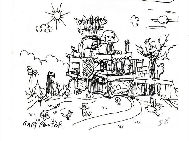 IMAGE: Gary Panter Playhouse Sketch