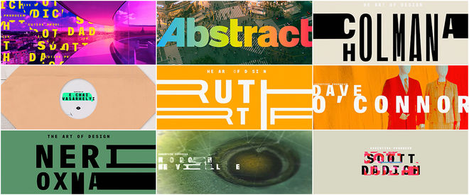 VIDEO: Title Sequence - Abstract