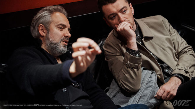 IMAGE: Sam Mendes and Sam Smith BTS Photo