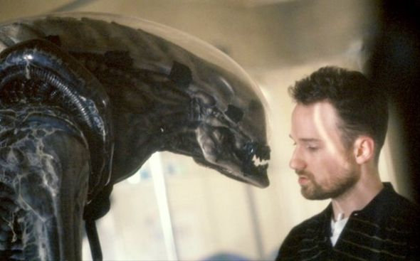 David Fincher on the set of Alien³