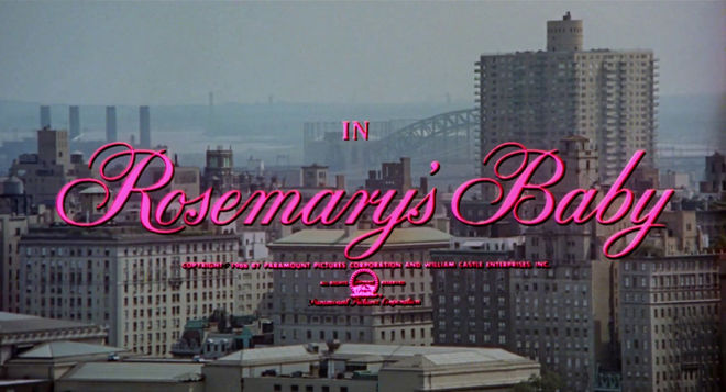 IMAGE: Rosemary's Baby (1968) Title Card