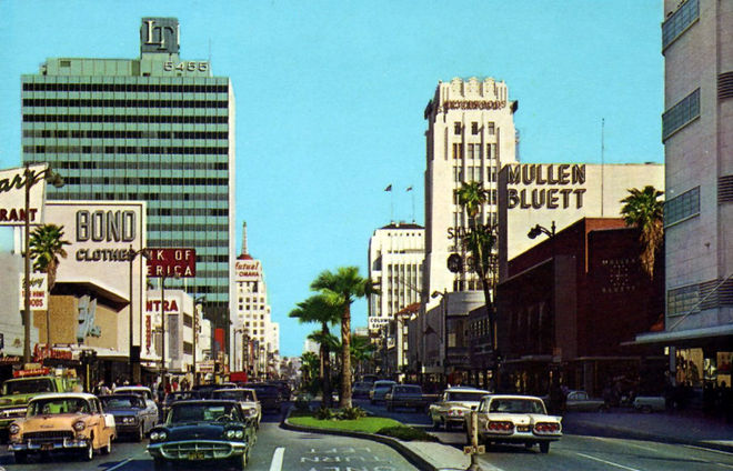 IMAGE: Los Angeles Wilshire Boulevard 1960s
