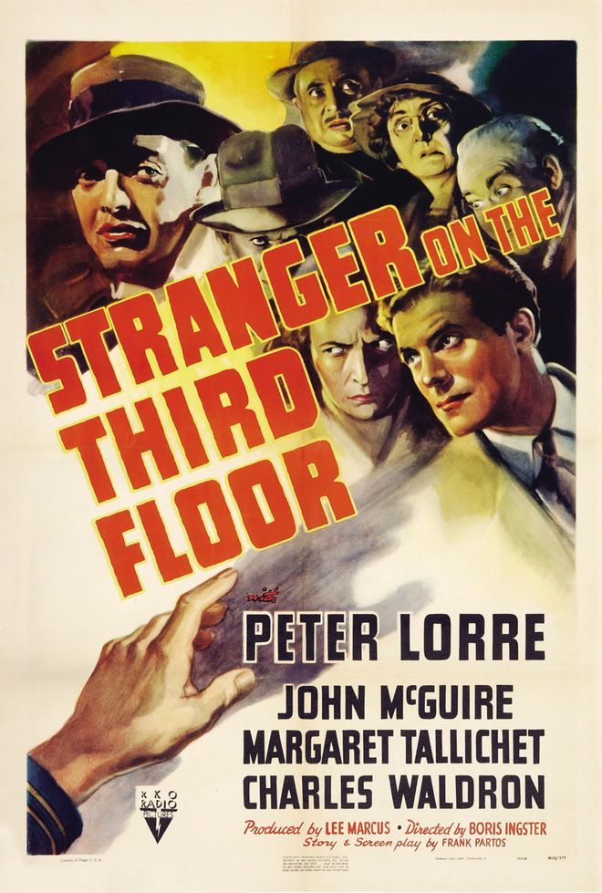 IMAGE: Poster for Stranger on the Third Floor (1940)
