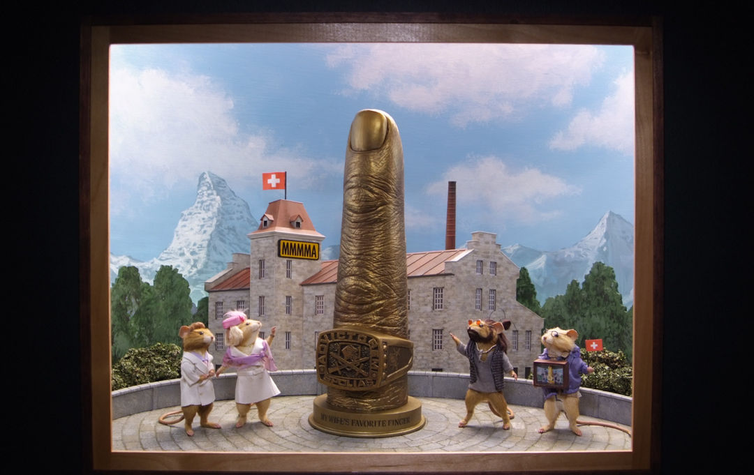The finger-like monument