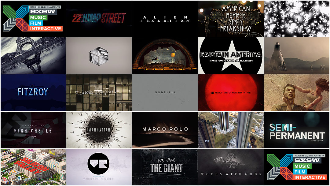 2015 SXSW Film Awards: Excellence in Title Design
