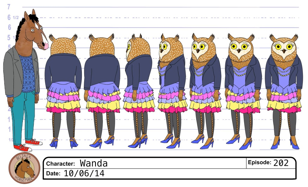 Image result for bojack character sheets
